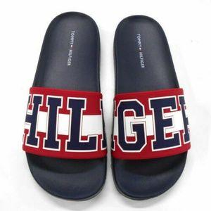Tommy Hilfiger Destyn Womens Slides Sandal Red/Whi